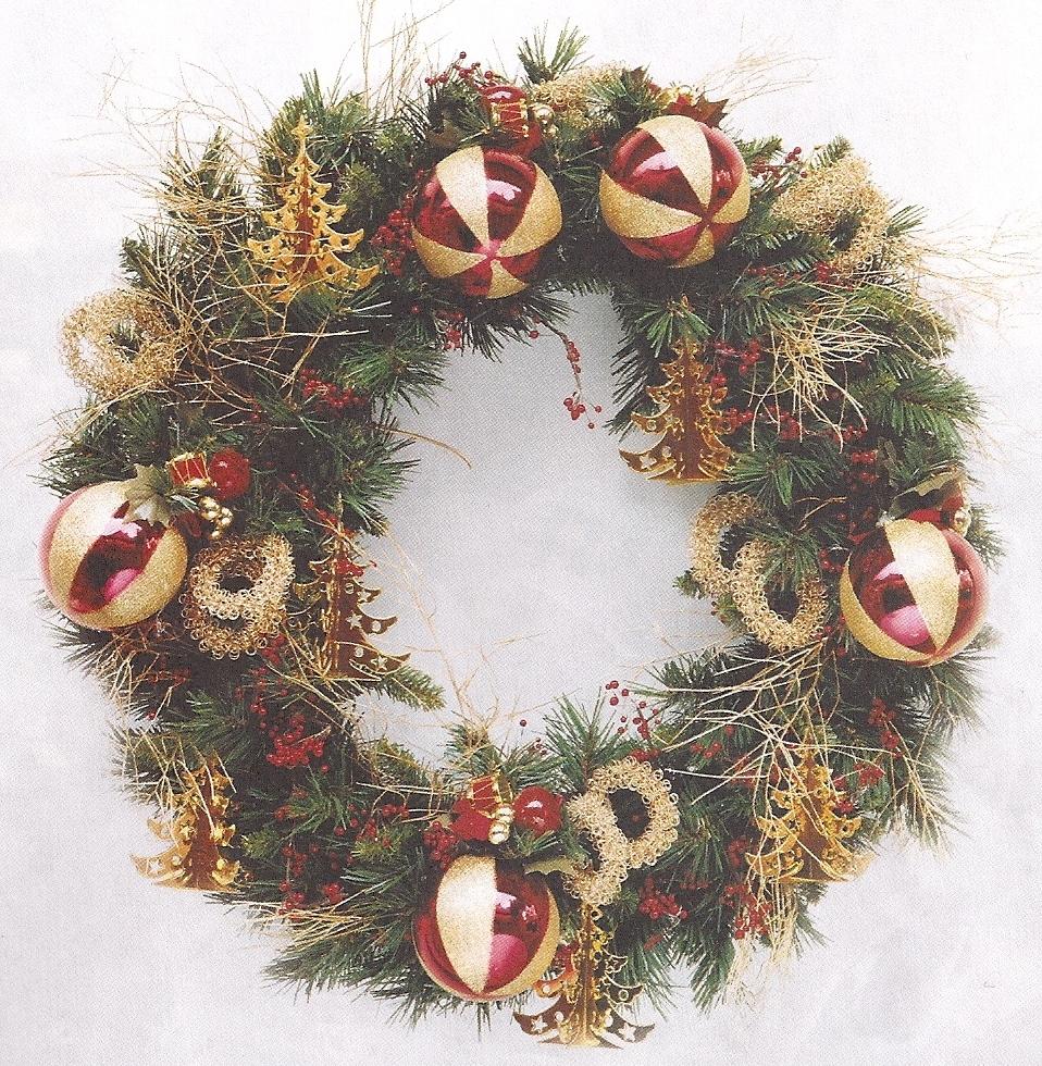 Detodomanualidades como hacer una corona tradicional navide a - Como hacer coronas navidenas ...