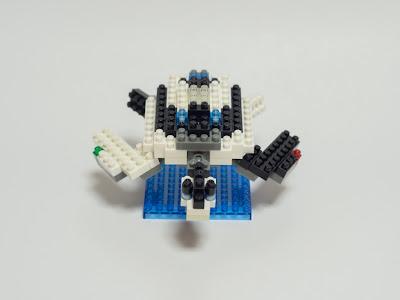ナノブロックのアオウミガメをアレンジしたメカウミガメ