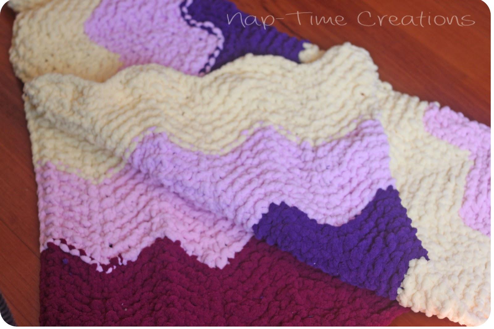 Chevron Knitted Baby Blanket Pattern : Chevron Baby Blanket {free knitting pattern} - Life Sew Savory