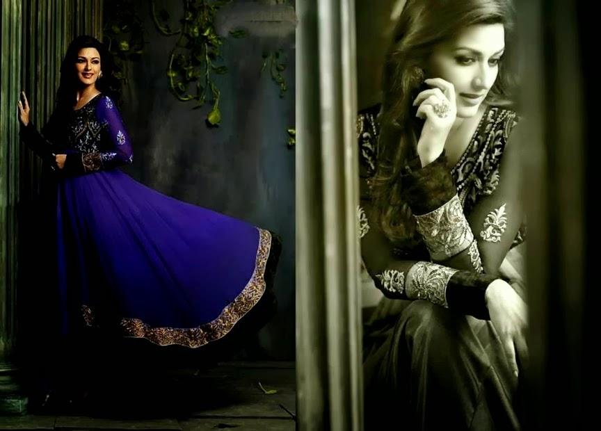 Sonali Bendre Designer suits Indian Party Wear Designer Dresses ...