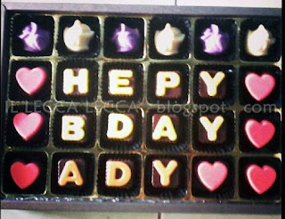 24pcs chocolate praline for birthday