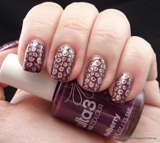Ulta3 Mulberry and Gold Rush Fever stamping