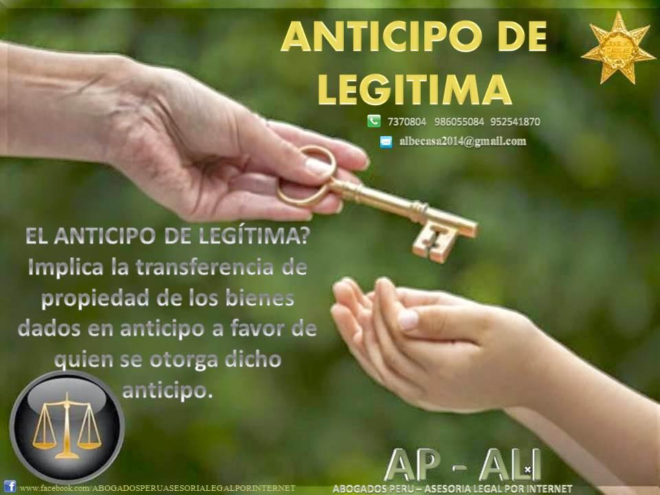 ANTICIPO DE LEGÍTIMA