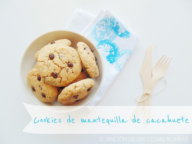 cookies de mantequilla de cacahuete y pepitas de chocolate