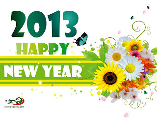 Happy New Year 2013 flowers