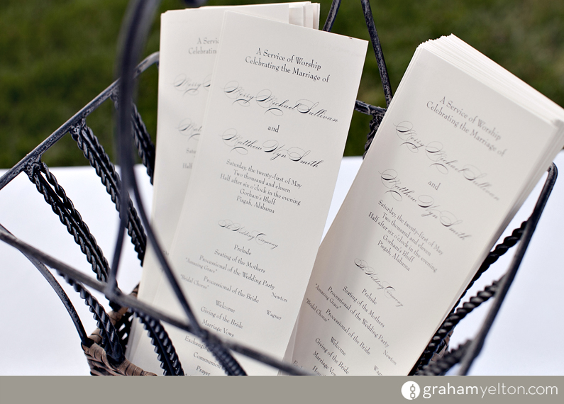 own design what a great way to inform your guests of what will happen during your wedding and to communicate the names of your wedding party