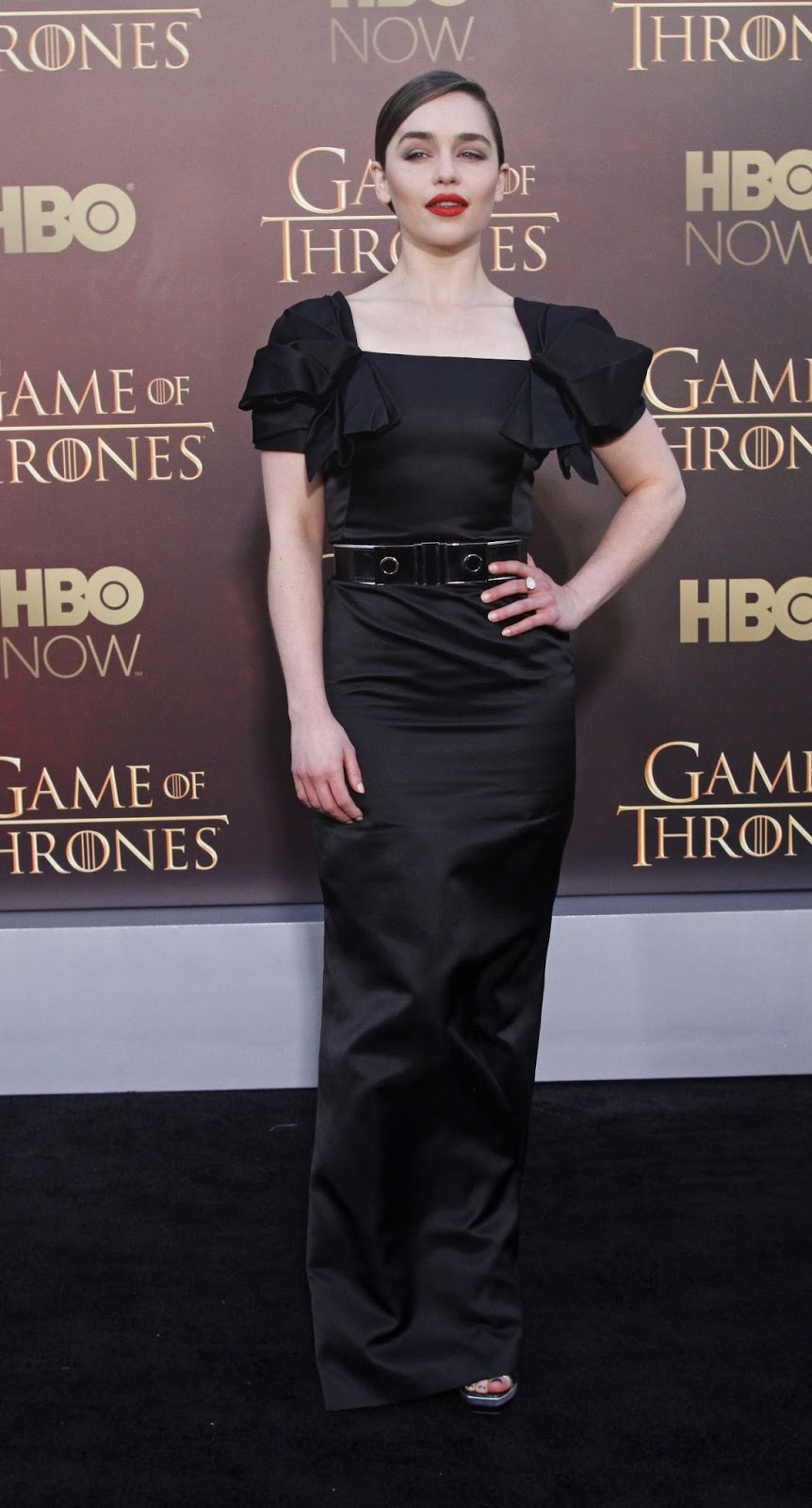 Emiia Clarke at the 'Game of Thrones' Season 5 premiere in San Francisco