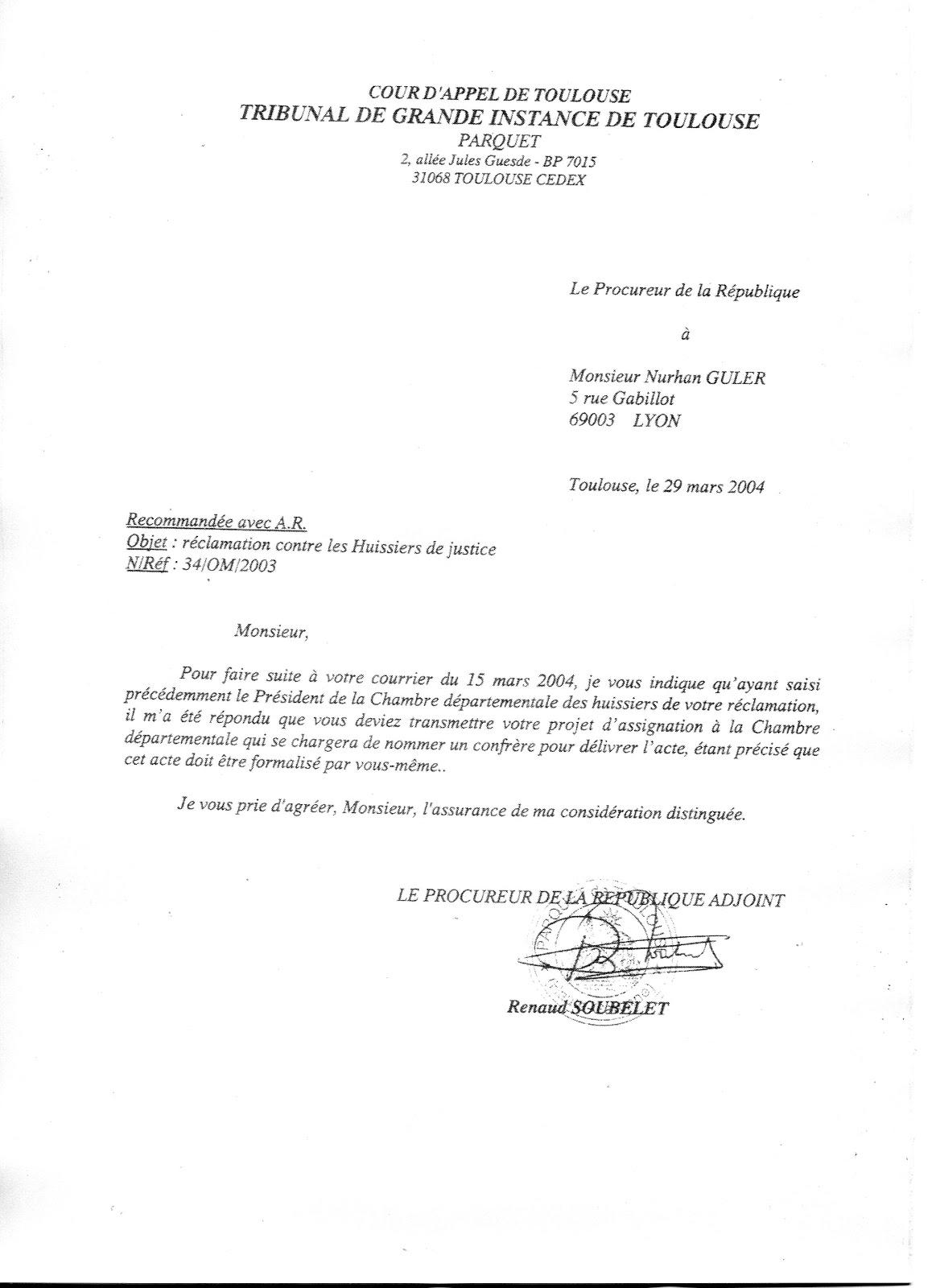 La mafia juridique la d ni de justice chronique toulouse - Chambre departementale des huissiers de justice ...