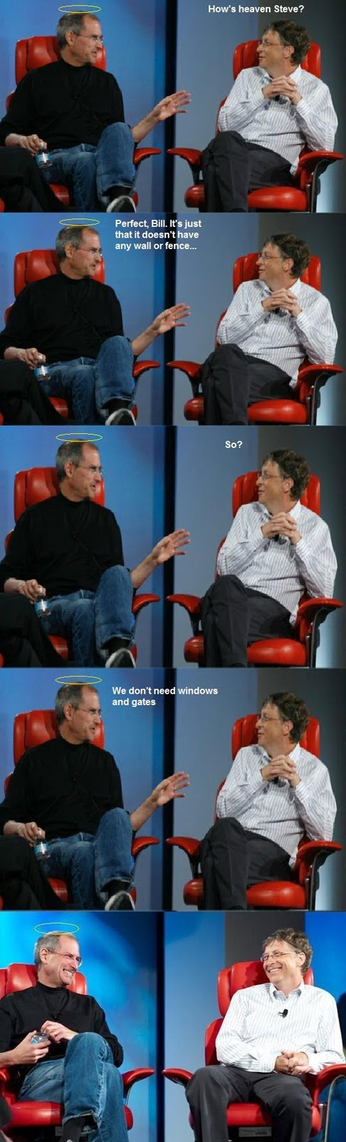 Steve Jobs And Bill Gates Talking About Heaven