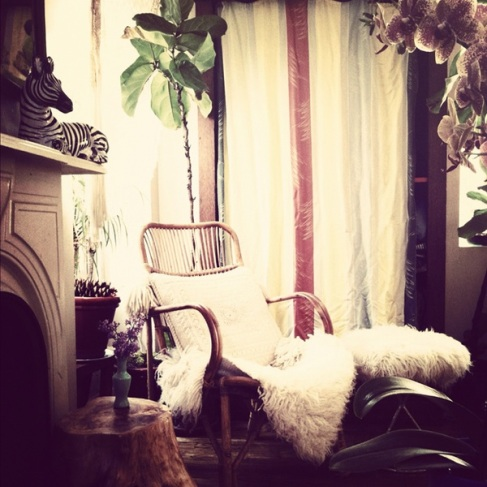 Bohemian Style: If A Classic Sheepskin Rug Would Get Ruined On The Floor Of  Your House, Why Not Use One As A Cosy Chair Throw? Cosy Image: Justina  Blakeney