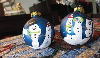 Snowman Handprint Craft