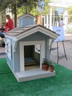 Painted Wooden Dog House Kennels