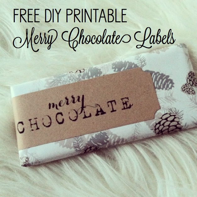 chocolate christmas label printables