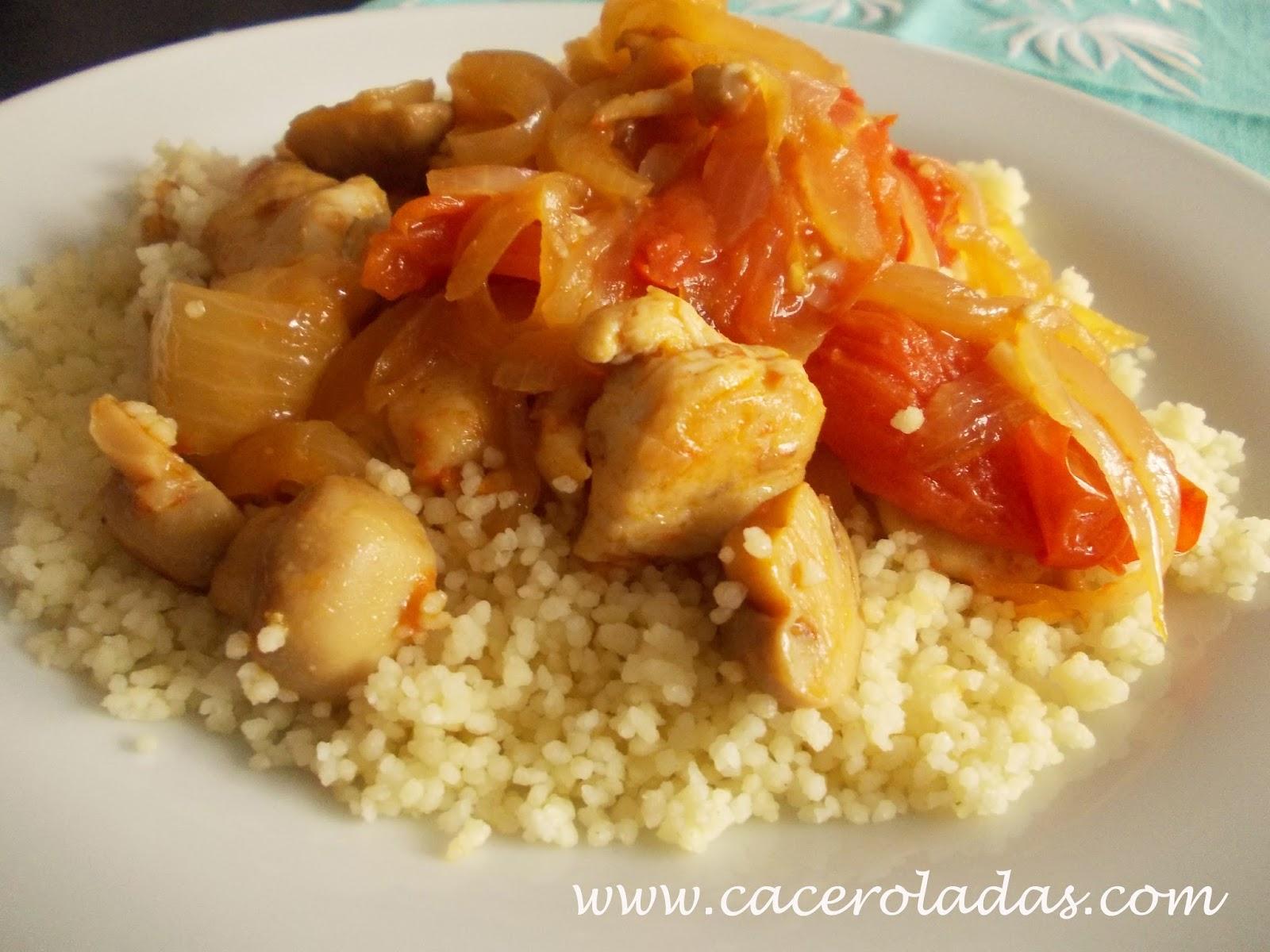 Cous cous de pollo al curry con verduras salteadas for Como cocinar pollo al curry