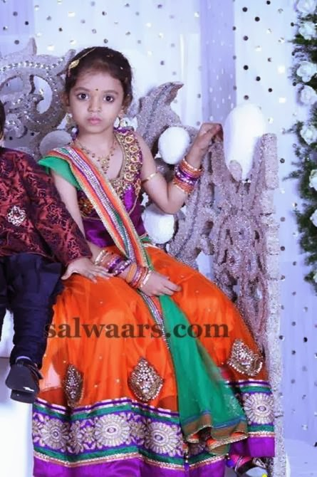 Small Kid in Lehenga and Duppatta
