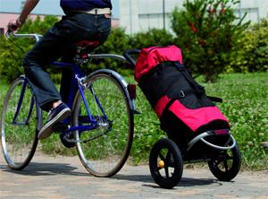 carrello bici porta oggetti