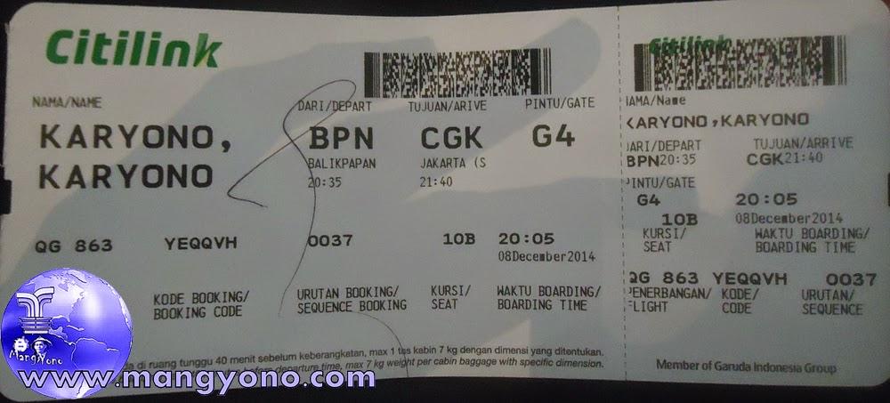 Siapkan  Check in Tiket dan KTP atau identitas lain. Jepretan dari lantai 2 sekalian.  Pada Tgl. 8/12/2014