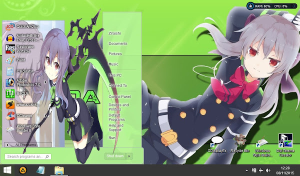 Shinoa  Owari no seraph (Theme windows 8) 1