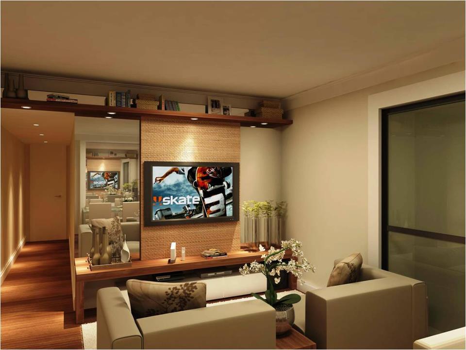 decoração de interiores autocad vista da sala de estar