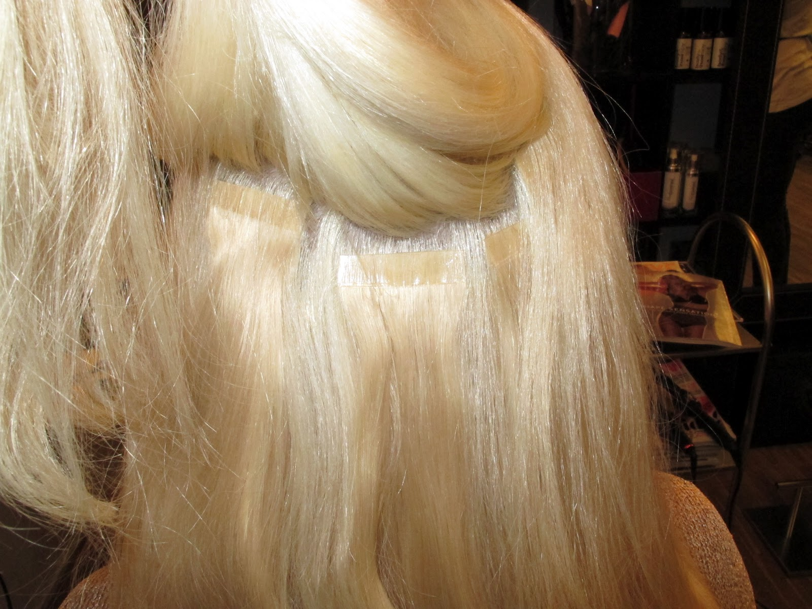 Hair+extension+med+tape+tresser+,++hair+extensions+i+oslo+,+billig