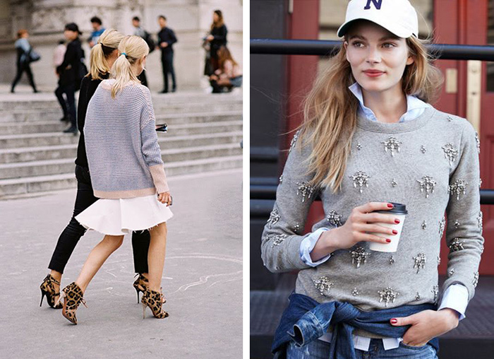 fall fashion inspiration, pastels, grey