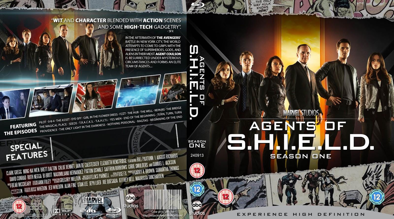 Capa Bluray Agents Of Shield Season One