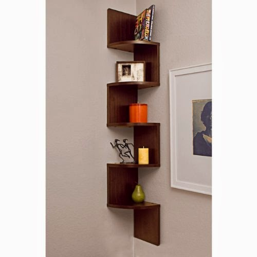 attractive zig zag wall corner shelf, corner shelf home decoration, ideas to save space in our house, House decoration ideas