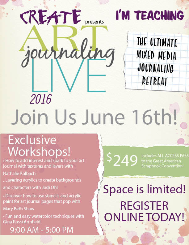 Join us for Art Journaling Live 2016