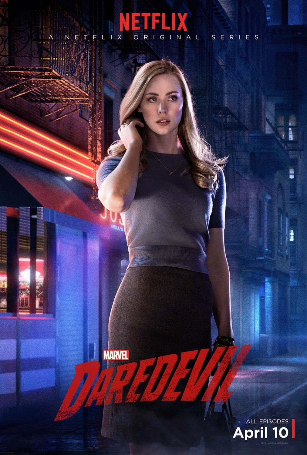 Marvel's Daredevil Character Television Poster Set - Deborah Ann Woll as Karen Page
