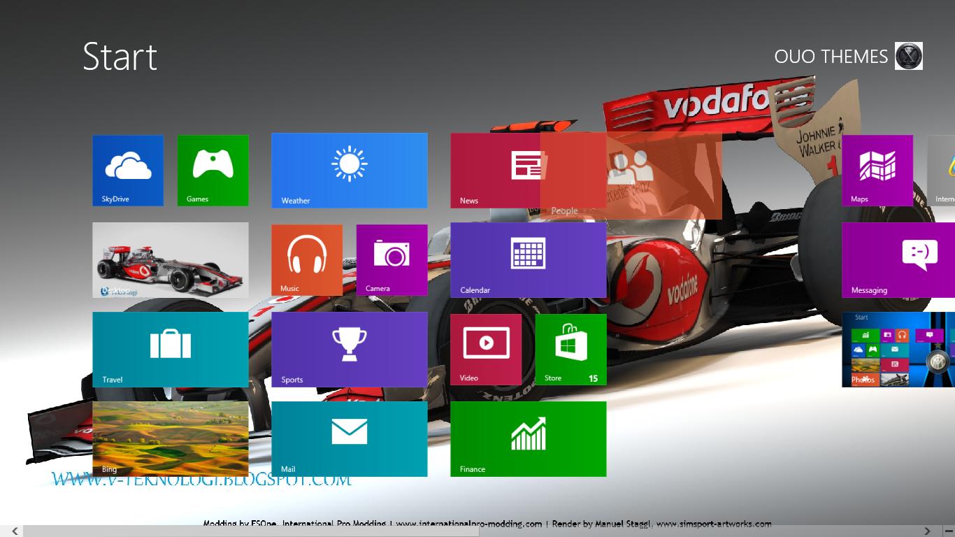 Lewis Hamilton Windows 7 And 8 Theme