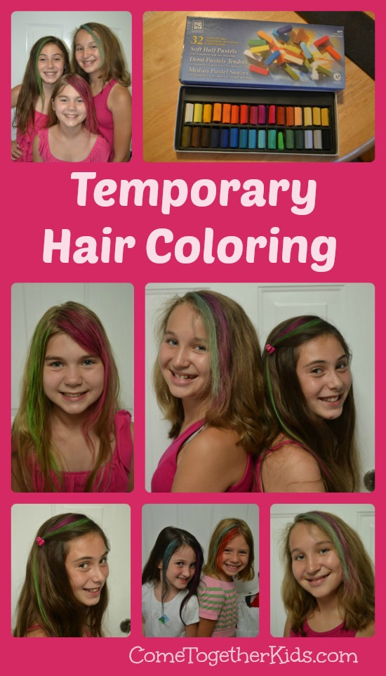 Coloring Hair with Chalk Pastels