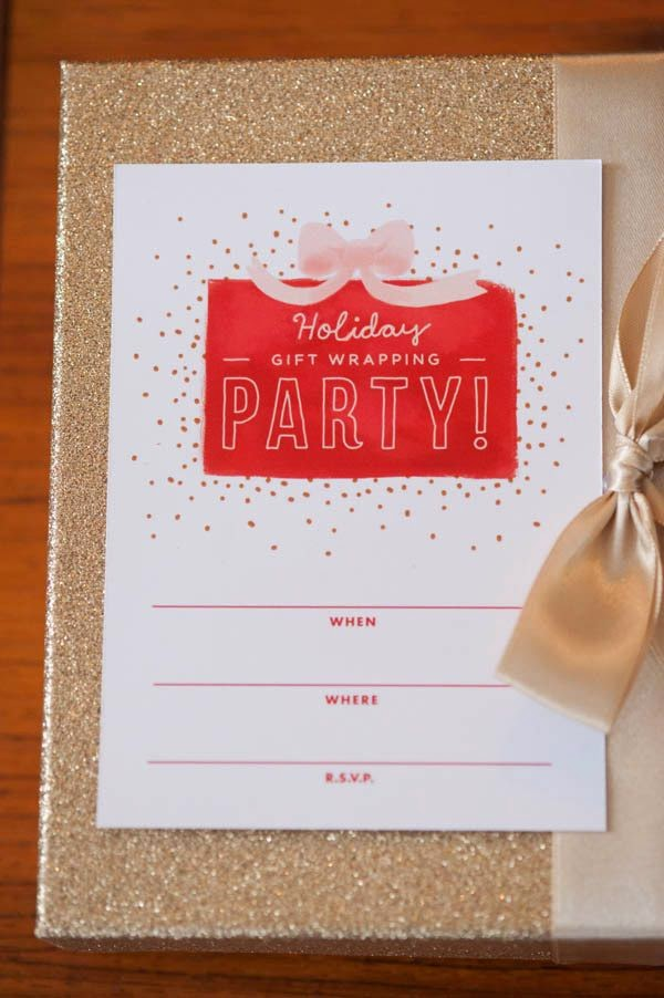 Gift Wrapping Parties invitation