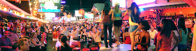 Thailand nightlife and lady-boys at soi crocodile patong phuket