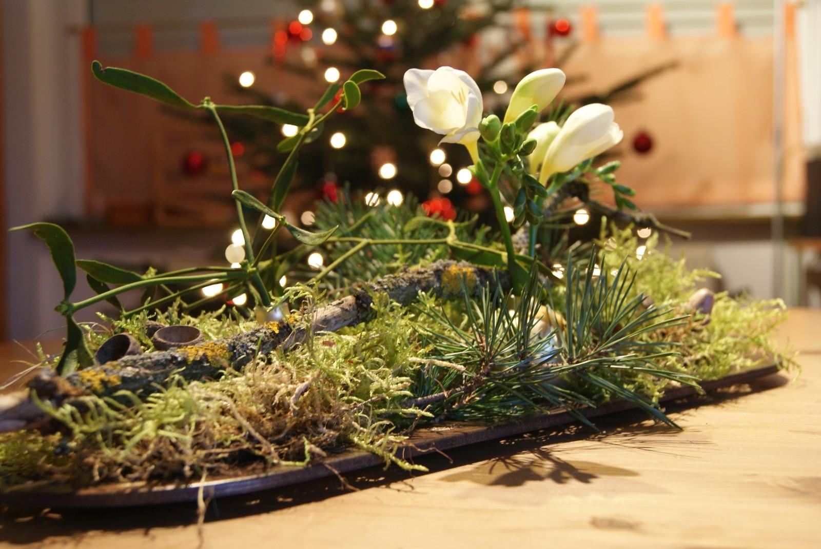 Filz und garten gartenblog winterliche tischdekoration Tischdeko im januar