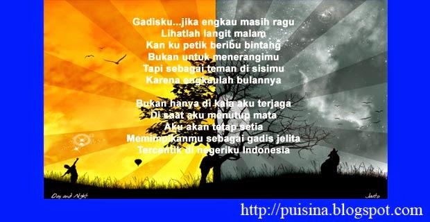 Puisi Cinta Satu Hari Satu Malam Edisi Arjuna Linglung