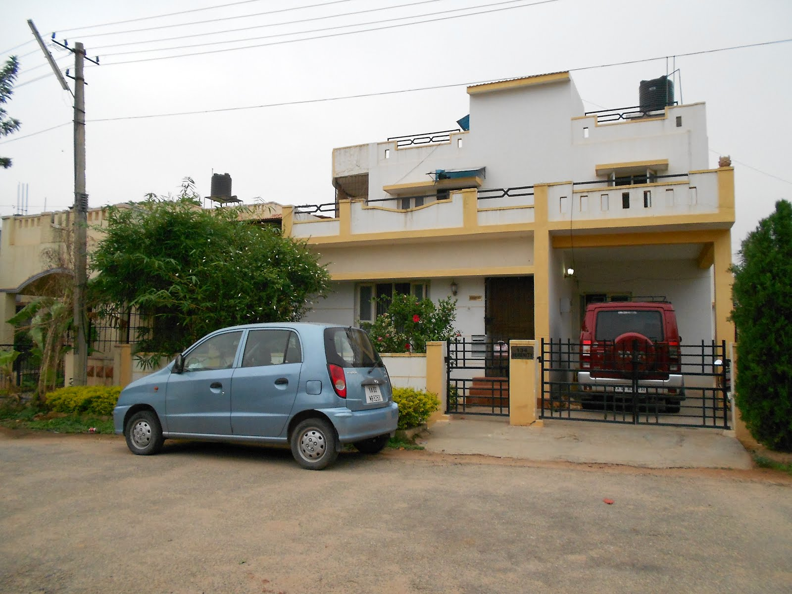 Very nice house and car see not all indians are poor