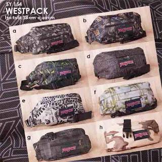 Jual online Tas Pinggang Pria Keren Murah Bahan Kanvas Motif - Westpack SY 154