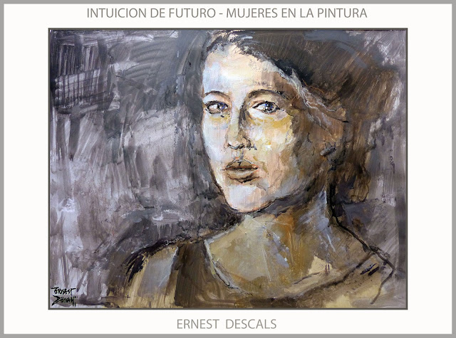 PINTURA-MUJERES-INTUCION-PINTURAS-FUTURO-MUJER-CUADROS-ARTISTA-PINTOR-ERNEST DESCALS-