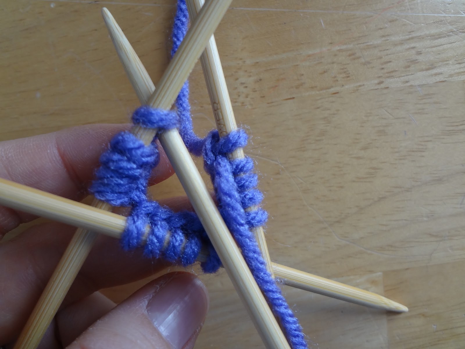 Knitting In The Round With Two Double Pointed Needles : Fiber flux how to knit with double pointed needles dpns