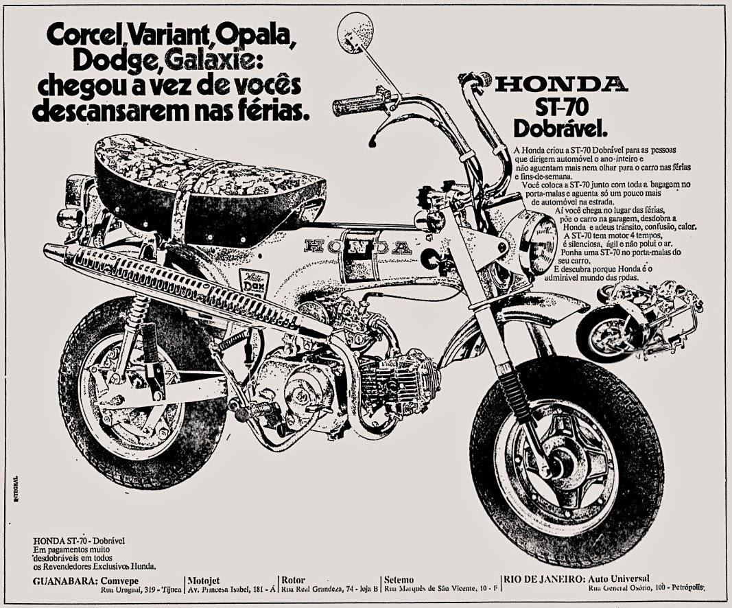 Honda. 1973. brazilian advertising cars in the 70. os anos 70. história da década de 70; Brazil in the 70s. propaganda carros anos 70. Oswaldo Hernandez.