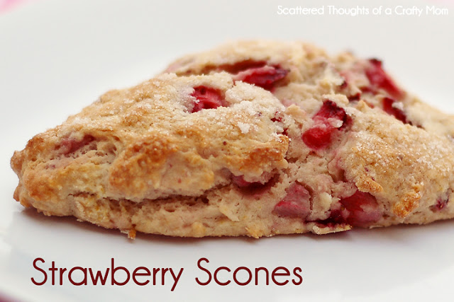 Fresh Strawberry Scones and Homemade Strawberry Milk | Scattered ...