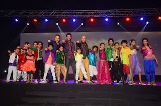 judges of boogie woogie with contestants on stage