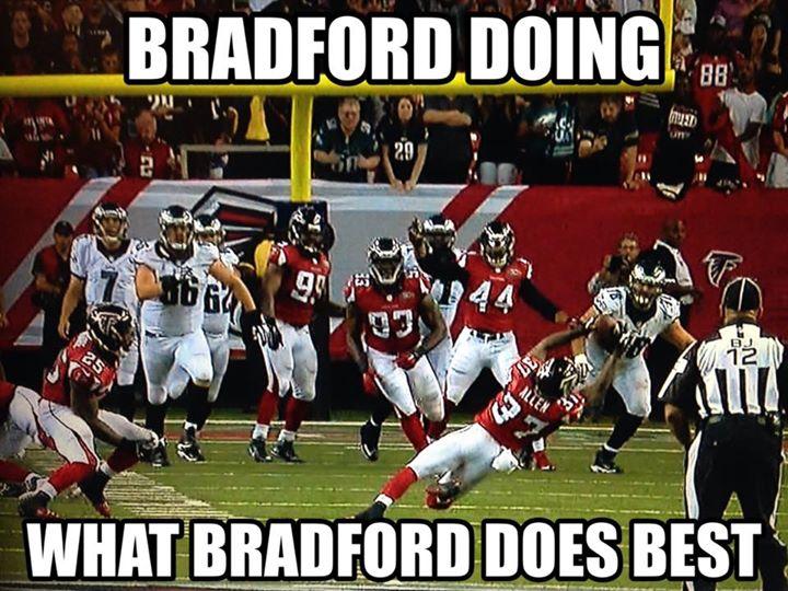 bradford doing what bradford does best