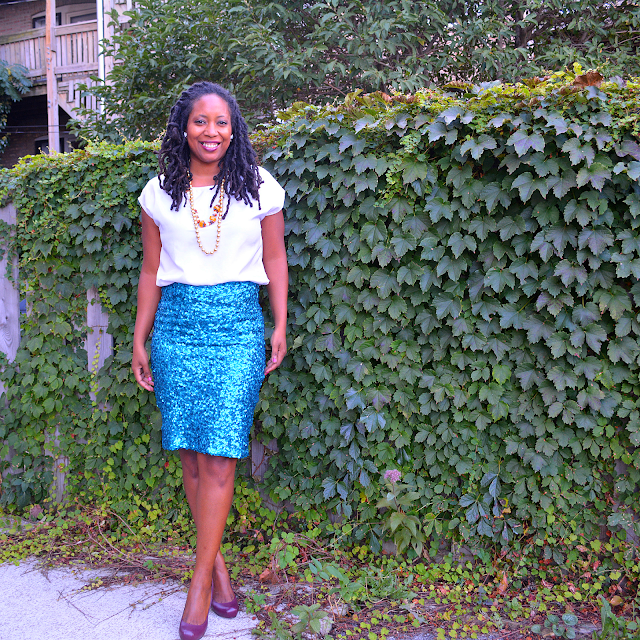 diy sequin skirt and how to wear it