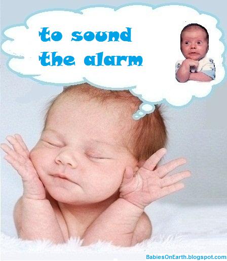 to sound the alarm