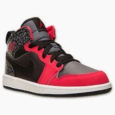Nike Air Jordan 1 Mid  GG  Girls Basketball Shoes  555112 019