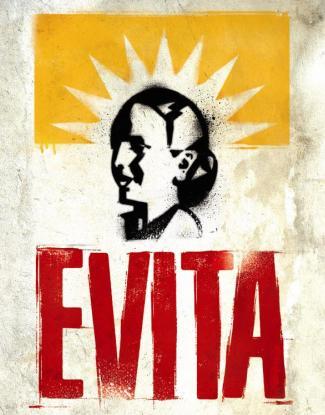 Poster del musical Evita en Nueva York