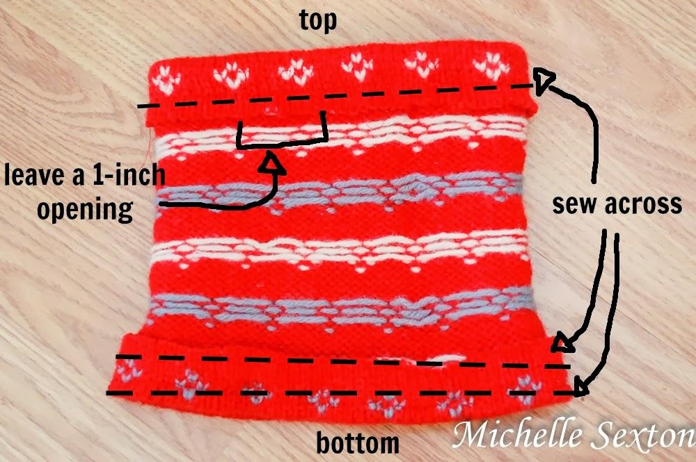 sew across each opening