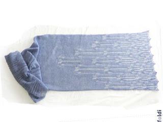 machine knitted passap butterfly lace shawl scarf