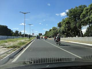 Romaria dos motociclistas chegando em Juazeiro do Norte.